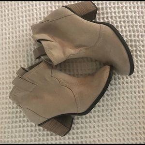 Express Tan Faux Suede Pull On Bootie Size 9